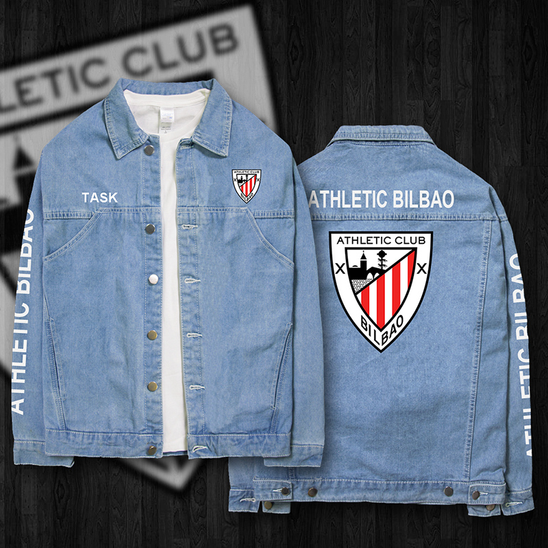 Athletic Athletic Club jaket denim (Jaket denim biru muda 02)