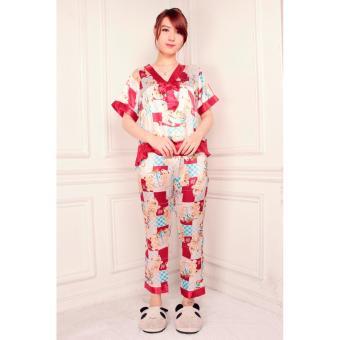 Aurel Piyamas - red / baju tidur wanita / piyama wanita /pajamas wanita / baju