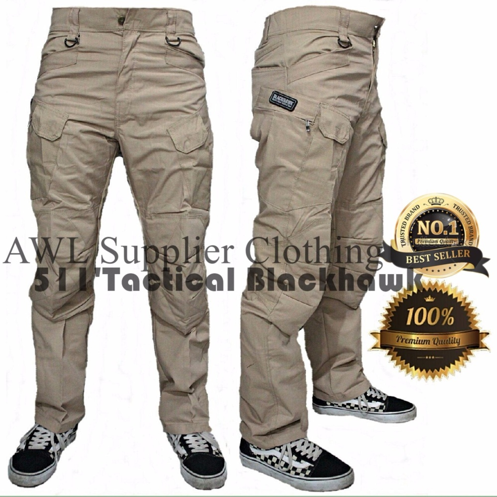 AWL Celana Tactical BlackHawk Cargo Cream Khaki