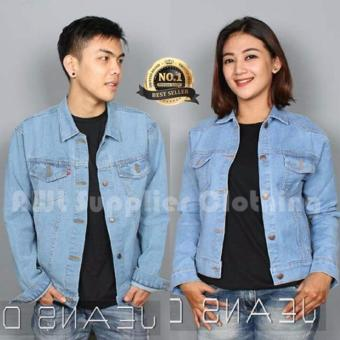 AWL Jaket Jeans Couple [Bioblitz] Biru Muda Denim Washing
