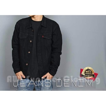 AWL Jaket Jeans [Hitam] Denim Washing