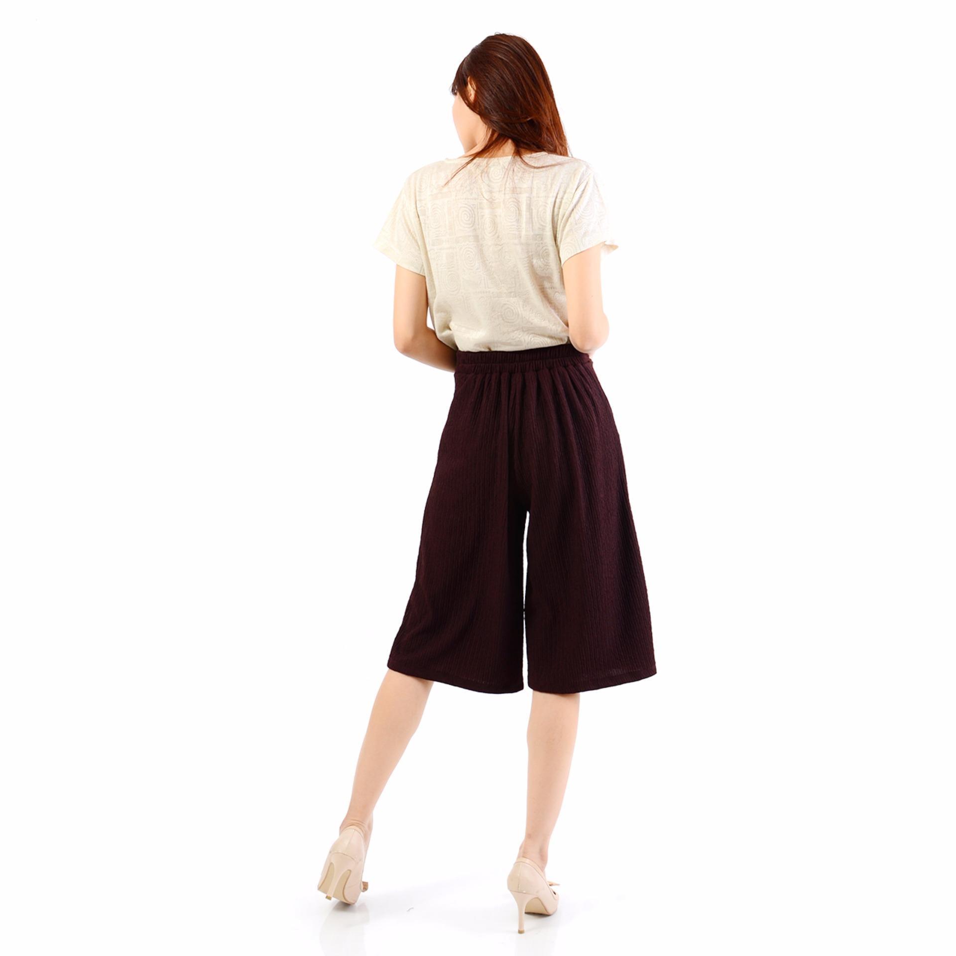 Ayako Fashion Cullote Pants Pixie - Celana Kulot Wanita Pixie - (Maroon .