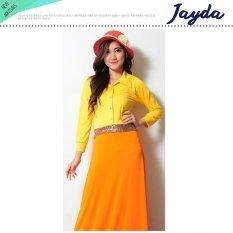 Ayako Fashion Dress Casual Short Sleeves Jayda (Kuning)