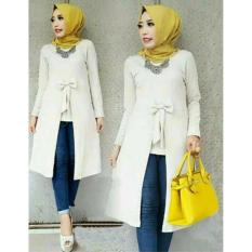 Ayu Fashion Tunik Becca +2Lapis Bahan - Putih - Best Seller