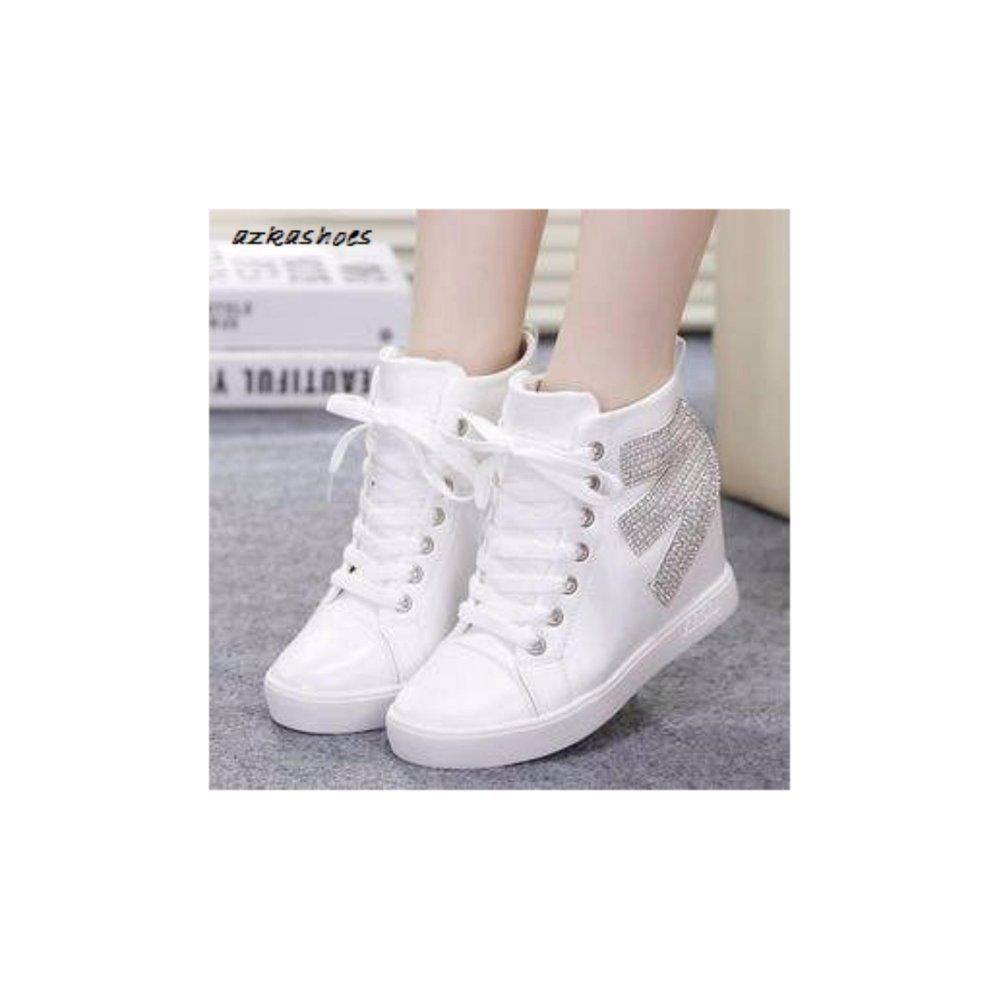 Hemat Azkashoes Sepatu Boots Wanita Putih M Toko Berbagai Macam