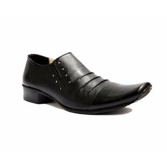 B A E WEAH Sepatu Pantofel Pria Formal / Sepatu Kulit Asli Pria Pantofel / CEVANY PHELREM ( HITAM ) - 5