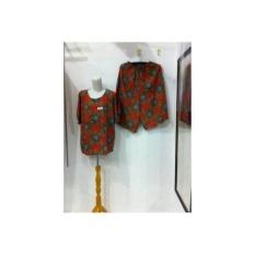 Baby Doll Jumbo / Setelan Celana Rok Jumbo Batik Kencana Ungu Maxi LL