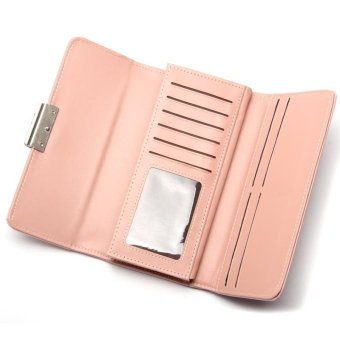 Baellerry Women's Wallets Clutches Bags Hand Bag Fashion Ladies Three Fold Wallets - Light Green ...