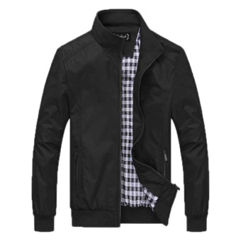 Bafash Jaket Men Sportwear Windcheater Black