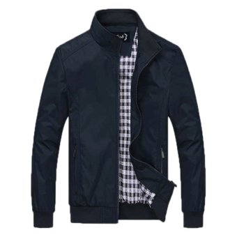 Bafash Jaket Men Sportwear Windcheater - Navy