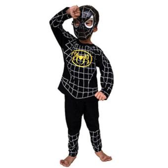 Baju Anak Superhero Kostum SPIDERMAN Black