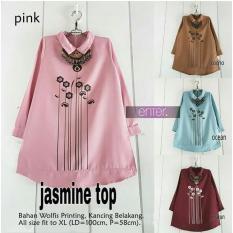 Baju Atasan Wanita Tunik Baju Muslim Blus Muslim Jasmine Top FASHION WANITA TERLARIS