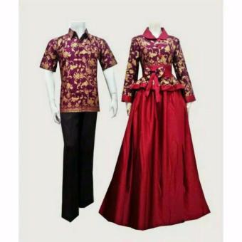 Harga Alb Maxi Maureen Batik Marun Gamis Di Pasaran