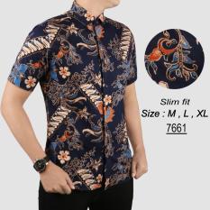 Baju Batik Modern Kemeja Pria Slim fit 7661