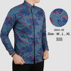 Baju Batik Modern Kemeja Pria Slim fit 9006