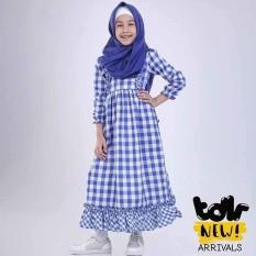 Baju Busana Dress Muslim Gamis Anak Perempuan Cewek Toddler T 3032 TR