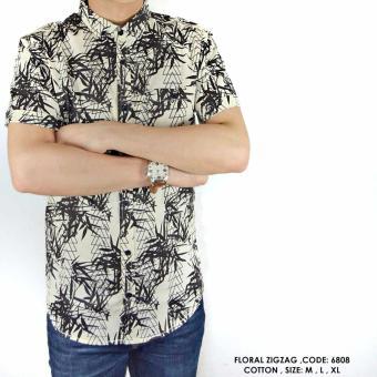 harga Baju Kemeja Casual Pria Motif Pantai Hawai Floral Lazada.co.id