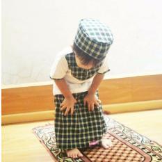 Baju Koko Sarung Celana Royyan Anak Berkualitas - Abu