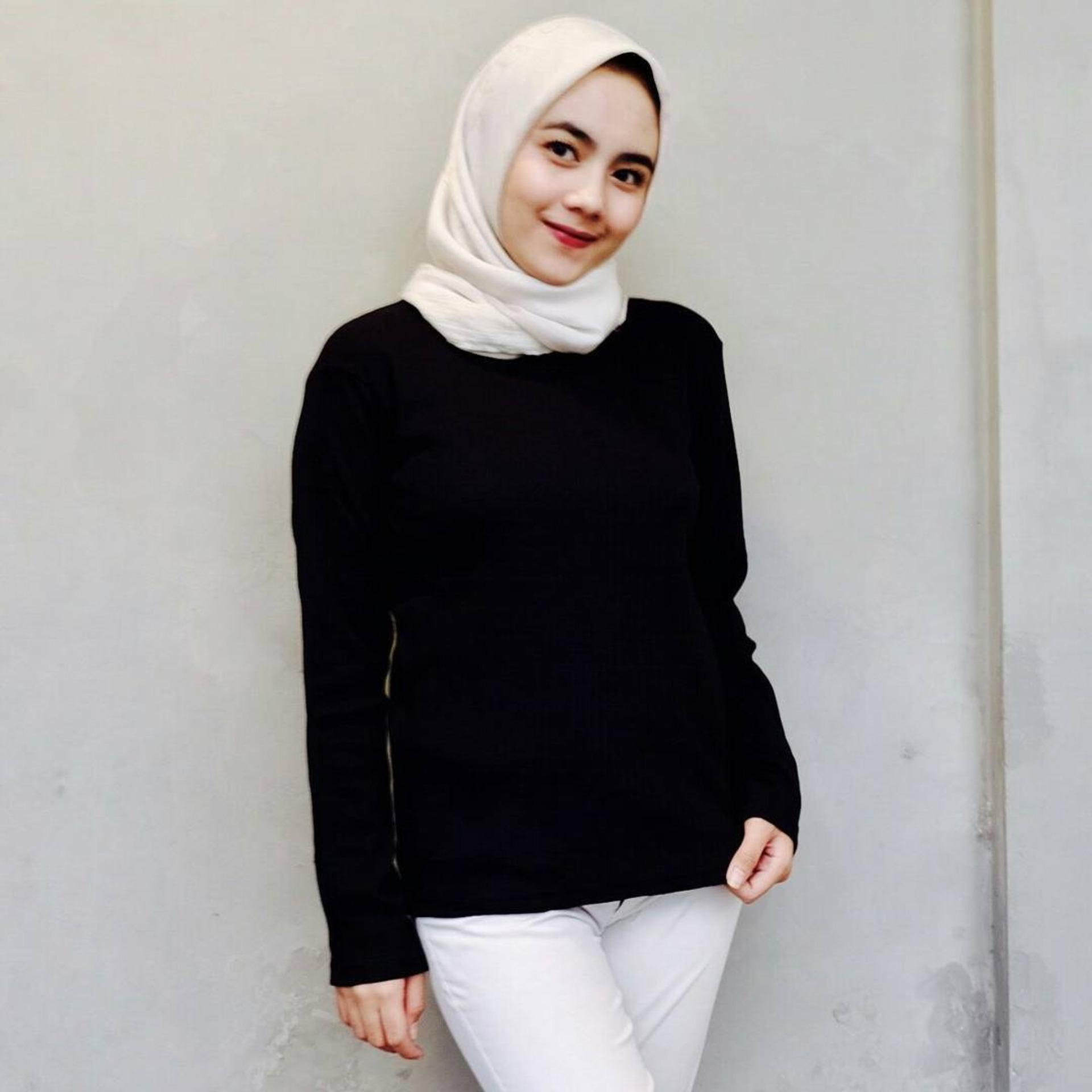 Hot Deals Baju Original Basic Tee Baju Blus Atasan Wanita Baju Kerja. Cek  Harga Baru 7a4b03b8f0