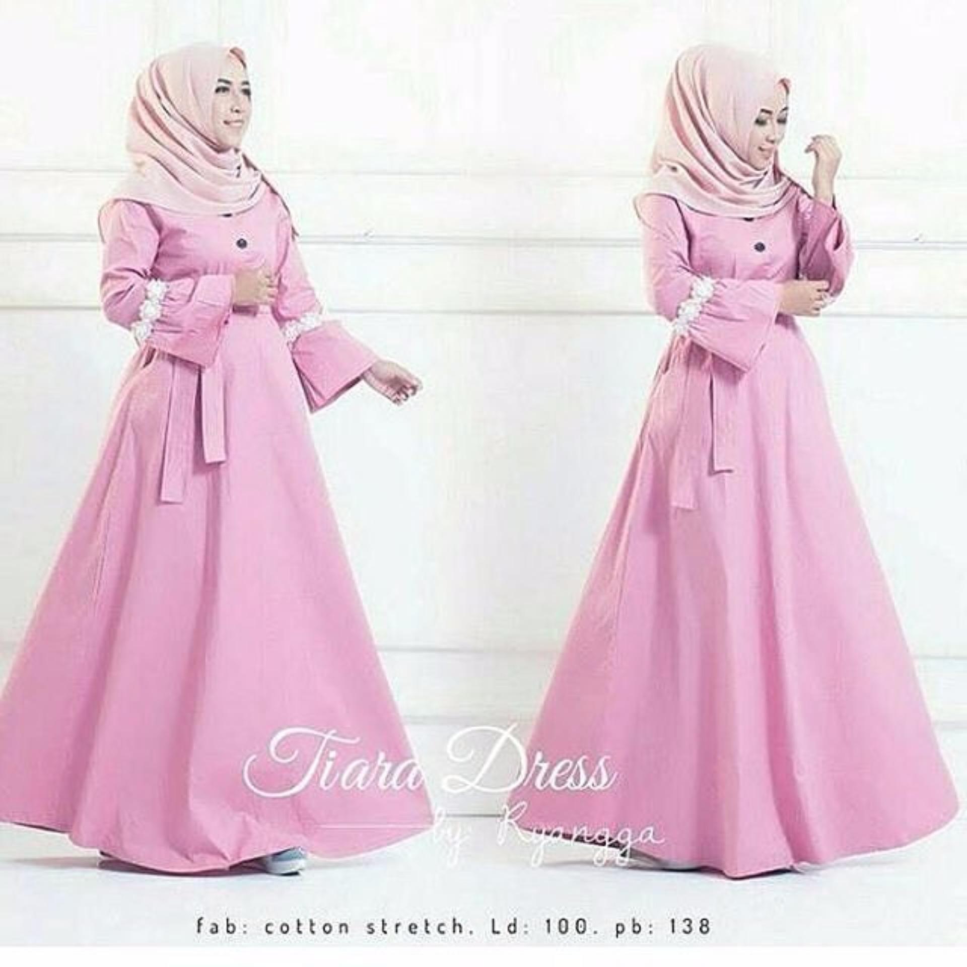Model Elegan Baju Original Tiara Dress Gamis Wolfice Gaun Pesta Panjang Baju Hijab Terusan Pengajian Wanita Muslimah Warna