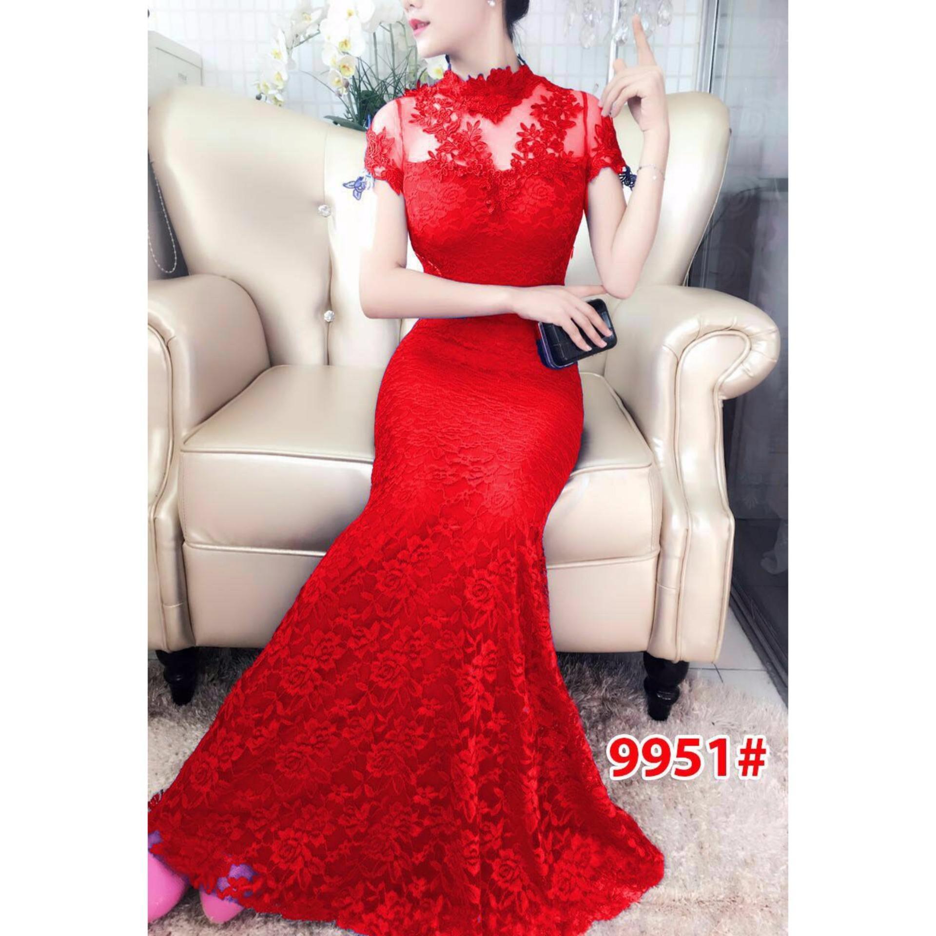 Jual Beli Baju Pesta Import Gaun Brokat Bandingkan 9010 Dress Ekor Fashion