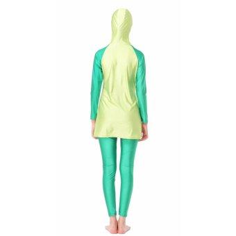 Baju renang muslimah baru baju berenang baju renang wanitakonservatif Hijau - 2