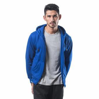 Gambar Bajukitaindonesia Jaket Hoodie Zipper Polos BIRUBENHUR M XL