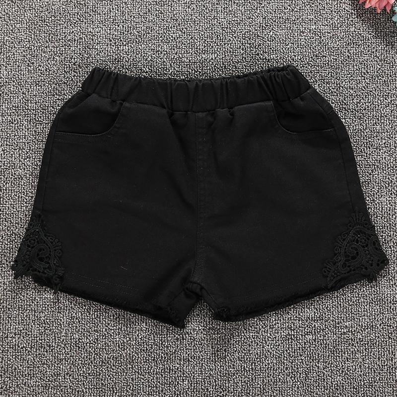 ... Baobao katun bagian tipis pakaian luar hot pants celana pendek celana pendek anak perempuan Hitam