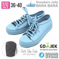 Bara Bara Sepatu Jelly Sneakers Silikon Shoes Cewek Silicone Kets - DD6382ELS - Sky Blue