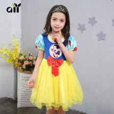 Baru musim panas Putri Salju gaun Gaun (Kuning)