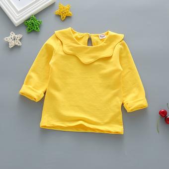 Baru untuk anak perempuan bottoming kemeja (Kuning)