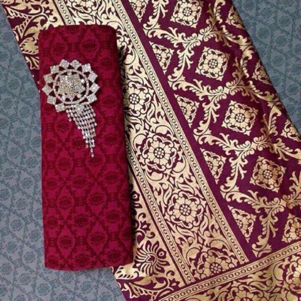 1set Kain Batik Kombinasi Bahan Katun Dan Embos Bawahan Kebaya Murah Kkk035 Source