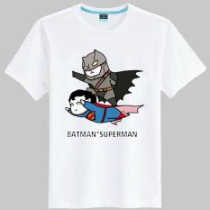 Batman kartun Film Zhou Bian lengan pendek t-shirt (Putih 24)