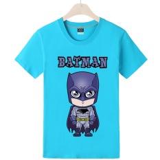 Batman Zhou Bian film katun lengan pendek t-shirt (Danau Biru 3)