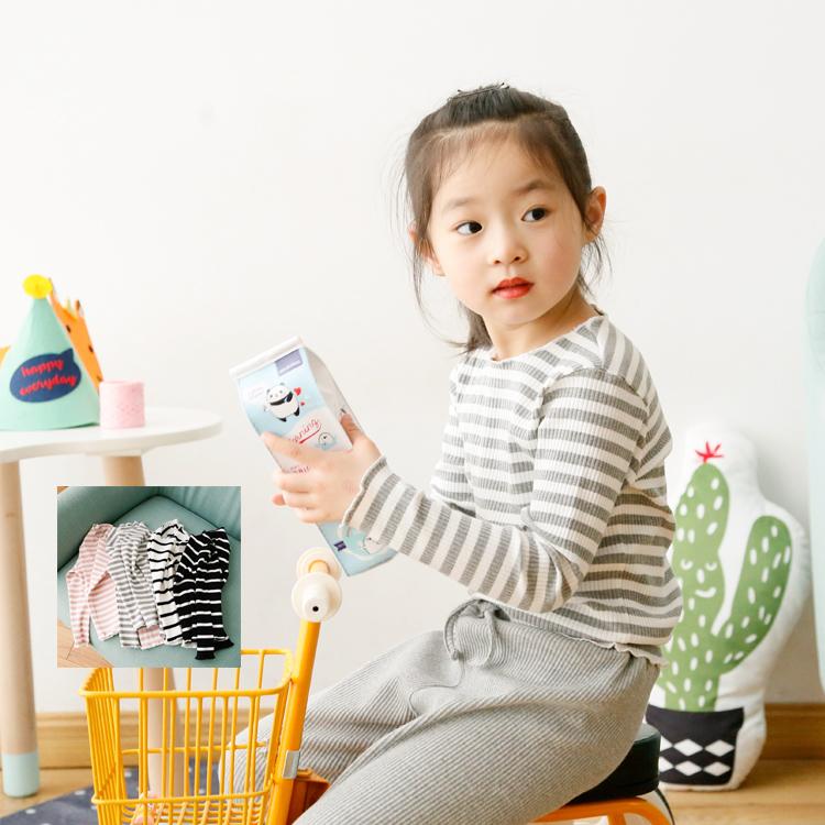 Bayi Asli Musim Semi dan Musim Gugur gadis anak-anak memakai lengan panjang t-