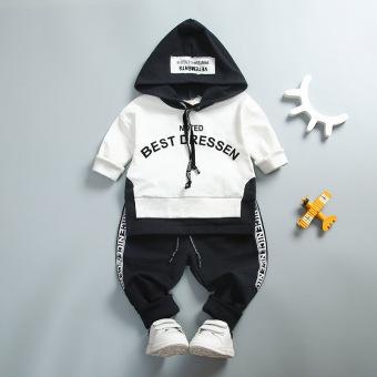 Bayi Korea Fashion Style Pria Dan Wanita Kelas Berkerudung Sepotong Dipasang Anak-anak Sweater (