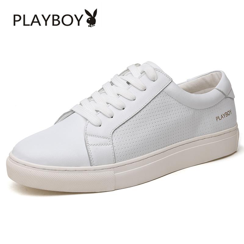 BayMini PLAYBOY musim gugur baru sepatu sepatu pria (Putih FY170180)