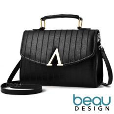 BEAU Tas Wanita High Quality PU Leather Women V Down Top Handle Sling Bags