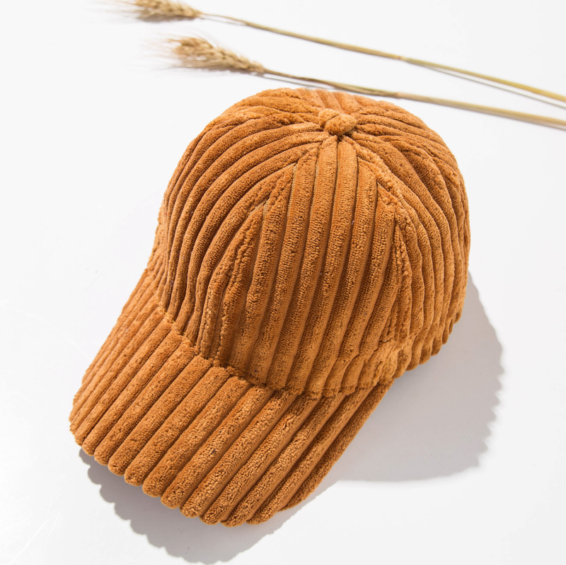 Beberapa corduroy perempuan musim gugur baru topi Korea Fashion Style bisbol topi (Papan lampu garis