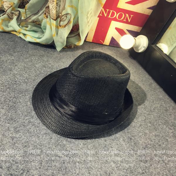 Beberapa Korea Fashion Style pria dan wanita matahari topi matahari topi jerami (Kali lipat dengan