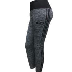 Beneva-celana legging abu abu/celana sport wanita/celana senam wanita/celana olah raga