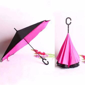 BEST Payung Terbalik KAZBRELLA 01 Gagang C Reverse Umbrella PayungLipat / Mobil - PINK FANTA