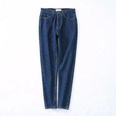Wanita Pinggang Tinggi Bottoming Celana Jeans Imitasi Dua Dari Source · Biru muda biru tua liar