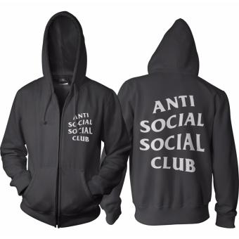 BKSPC Hoodie Zipper Anti Social Social Club - Pria dan Wanita