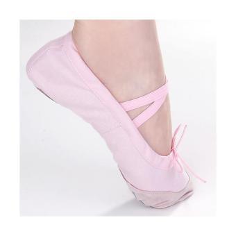 harga BolehDeals berwarna merah muda sepatu balet balita perempuan kamikanvas ukuran anak 11 1/2# 6,83 inci Lazada.co.id