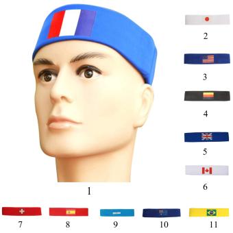BolehDeals fashion ikat kepala rambut pita penahan keringatolahraga pria wanita untuk yoga Prancis - Internasional