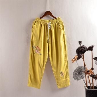 ... Cahaya Biru Source · Kemeja Motif. Source · Bordir baru elastis pinggang renda celana katun celana kasual (Kuning) Temukan Harga Terendah Simpan
