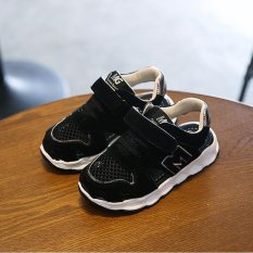 Boy's Girl's Breathable Casual Summer Unisex New Cute School ShoesSandals Sport Shoes I12 Black - intl