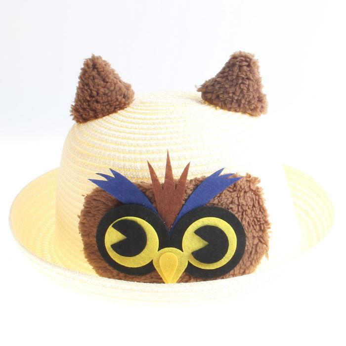 Burung hantu lucu untuk pria dan wanita anak-anak Baobao topi visor topi  (Putih 14c9552d9d
