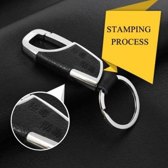 Business leather car metal key ring - intl - 4